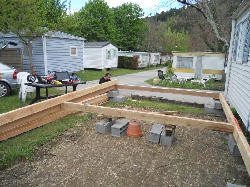 creation terrasse couverte pour mon mobil-home