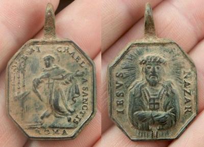 Médaille St Anastase - début XVIIIème Miguel10