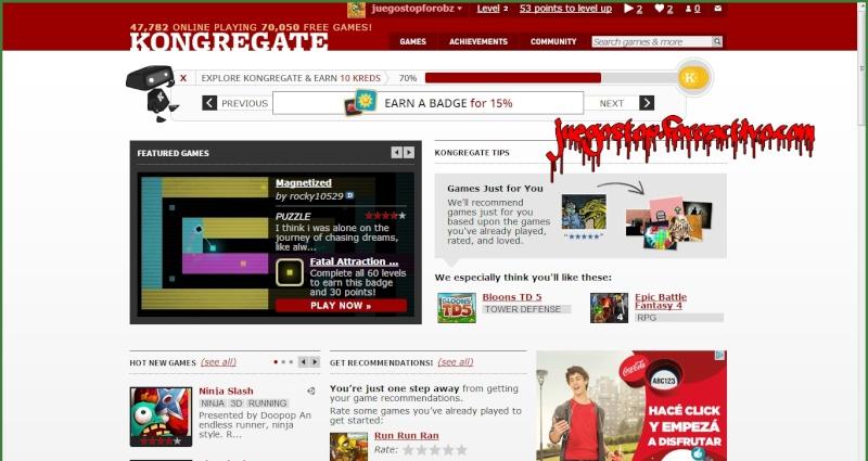 Kongregate: Juga a juegos online gratis Juegos10