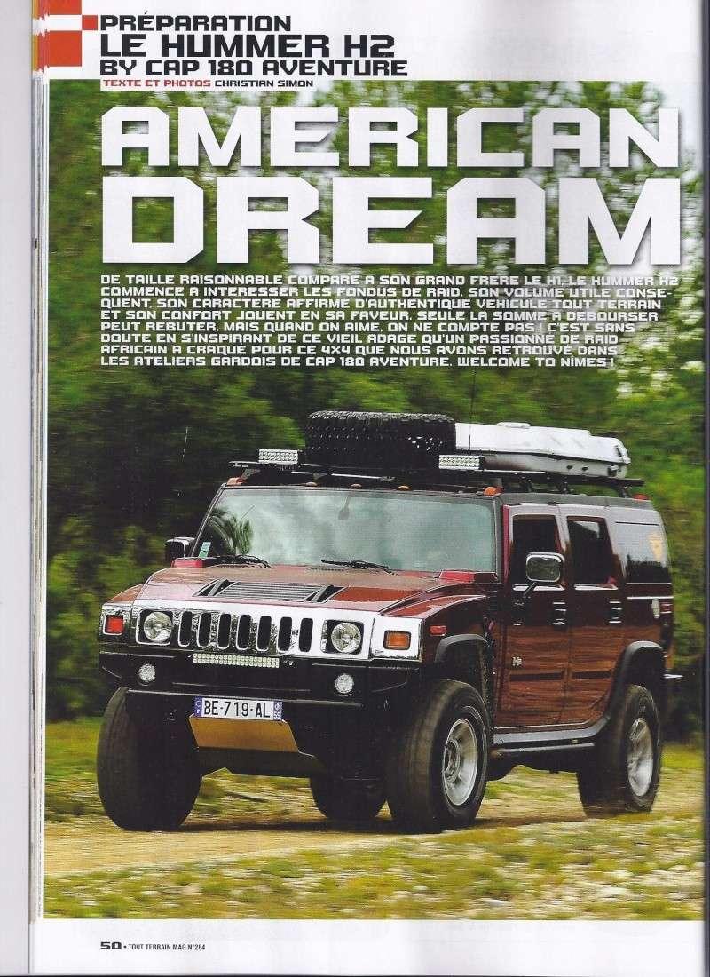PREPARATION HUMMER H2 CAP 180 AVENTURE 4WD Dans Tout Terrain Magazine n°284 Scan0011