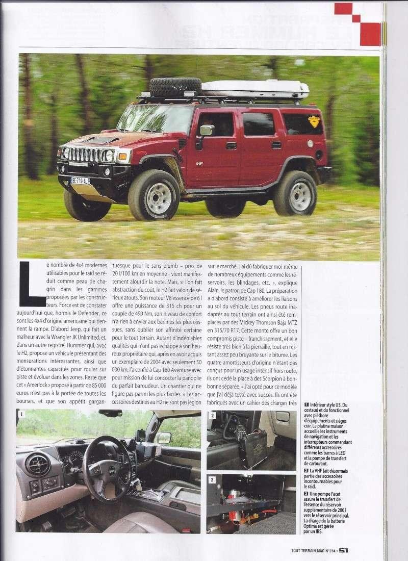 PREPARATION HUMMER H2 CAP 180 AVENTURE 4WD Dans Tout Terrain Magazine n°284 Scan0012