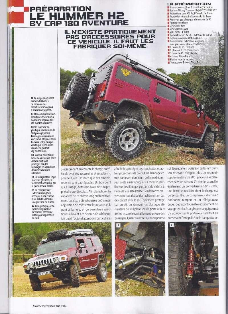 PREPARATION HUMMER H2 CAP 180 AVENTURE 4WD Dans Tout Terrain Magazine n°284 Scan0013
