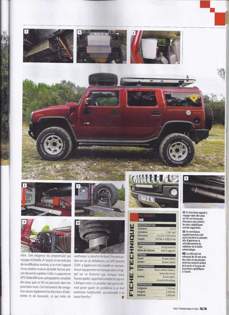 PREPARATION HUMMER H2 CAP 180 AVENTURE 4WD Dans Tout Terrain Magazine n°284 Scan0014