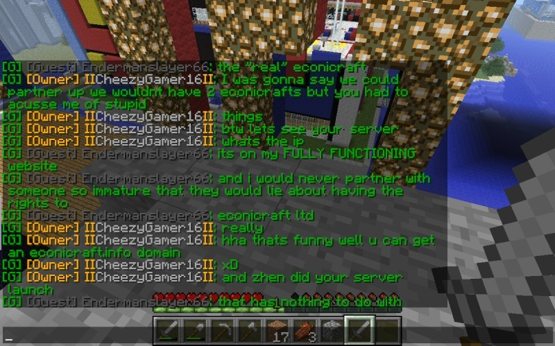 "My conversation with Cheezygamer16 and the ""real"" Econicraft IP 2013-014"