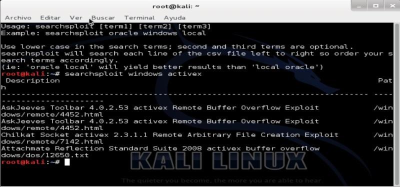 Tutorial de searchsploit para Kali Linux Search10