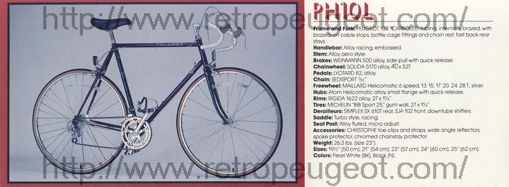 PEUGEOT PH10LS 1984 Peugeo13