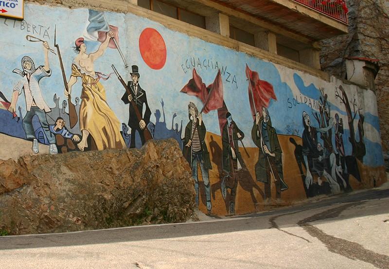 Street view peintures murales d 39 orgosolo sardaigne for Peintures murales