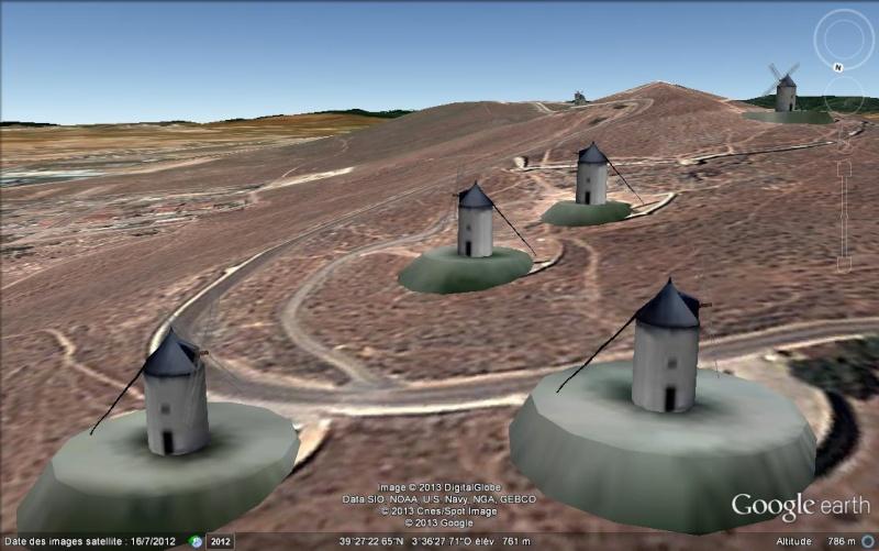 Moulins de Don Quichotte à Consuegra - Espagne 3d_mou10