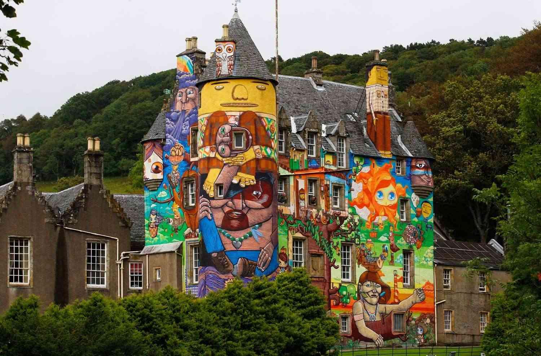 Kelburn Castle - le château graffiti - Glasgow - Ecosse Bgp_4710