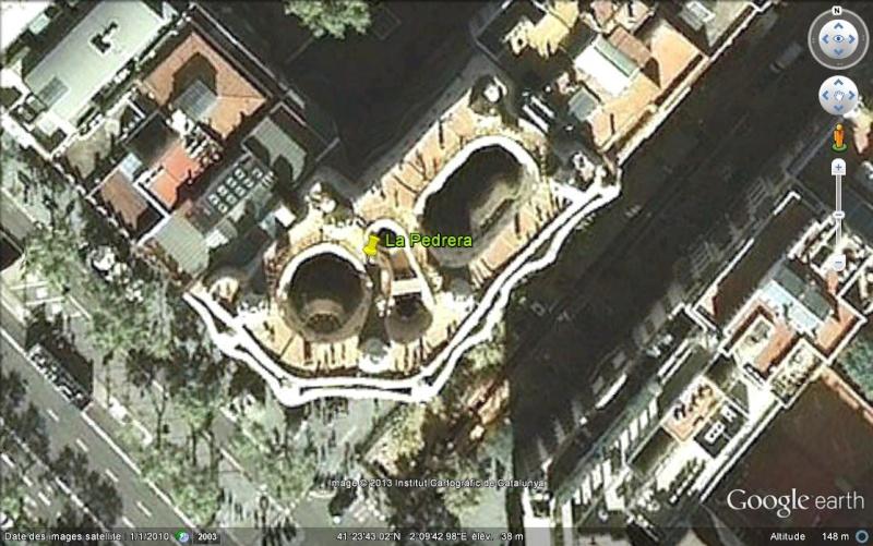 Casa Milà ou La Pedrera - Barcelone - Espagne. Ge_la_10