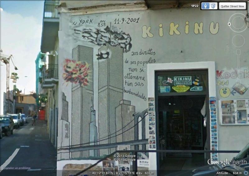 STREET VIEW : Peintures murales de l'île de Sardaigne - Italie. Sv_11010