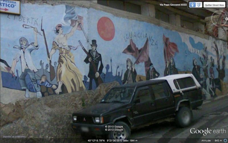 STREET VIEW : Peintures murales de l'île de Sardaigne - Italie. Sv_org10