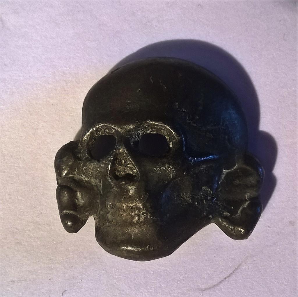 tete de mort métal casquette SS RZM M1/52 Wp_20180