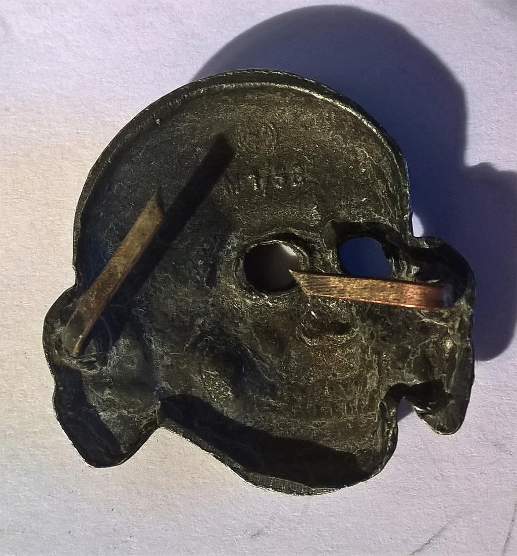 tete de mort métal casquette SS RZM M1/52 Wp_20182
