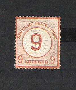 Deutsches Reich 1872 bis 1874 - Brustschildausgaben Dr30pf10