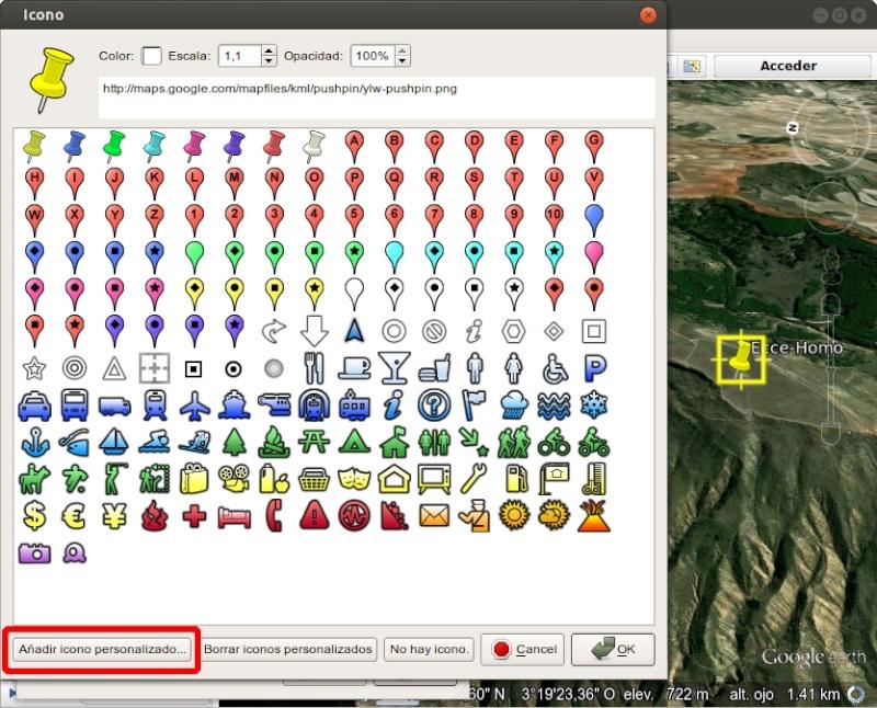 Tutorial: Usar los iconos waypoint de OruxMaps en Google Earth 210