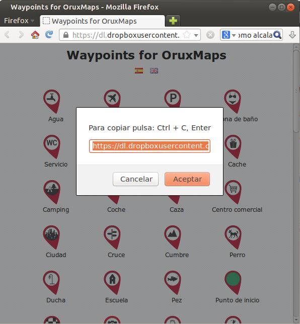 Tutorial: Usar los iconos waypoint de OruxMaps en Google Earth 310