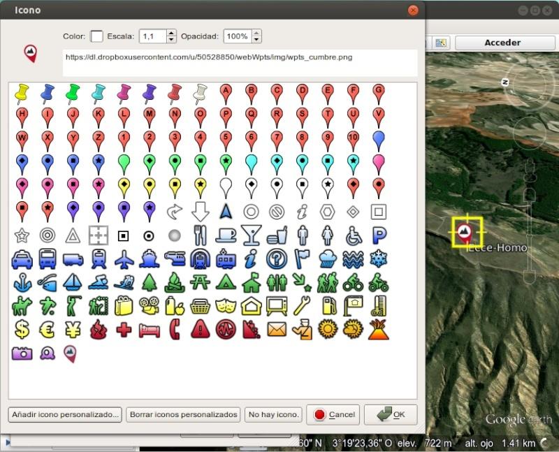 Tutorial: Usar los iconos waypoint de OruxMaps en Google Earth 510
