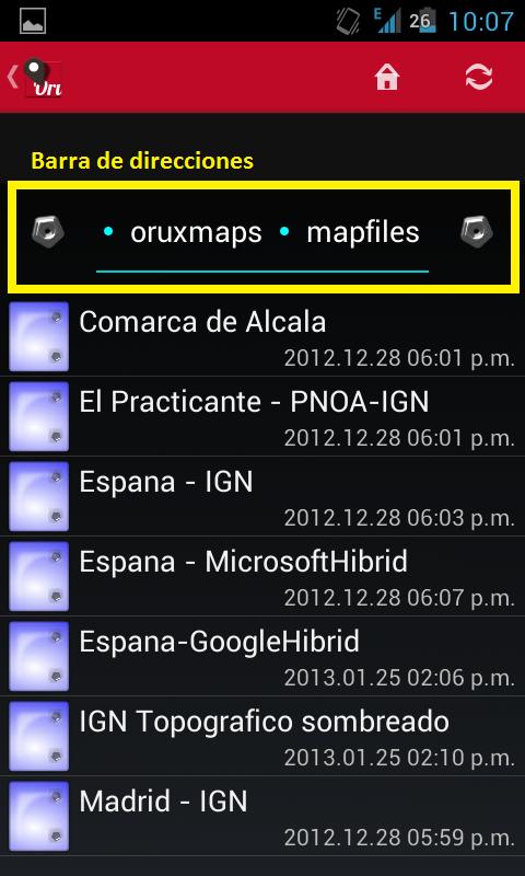 Almacenar mapas en la tarjeta SD? Screen11
