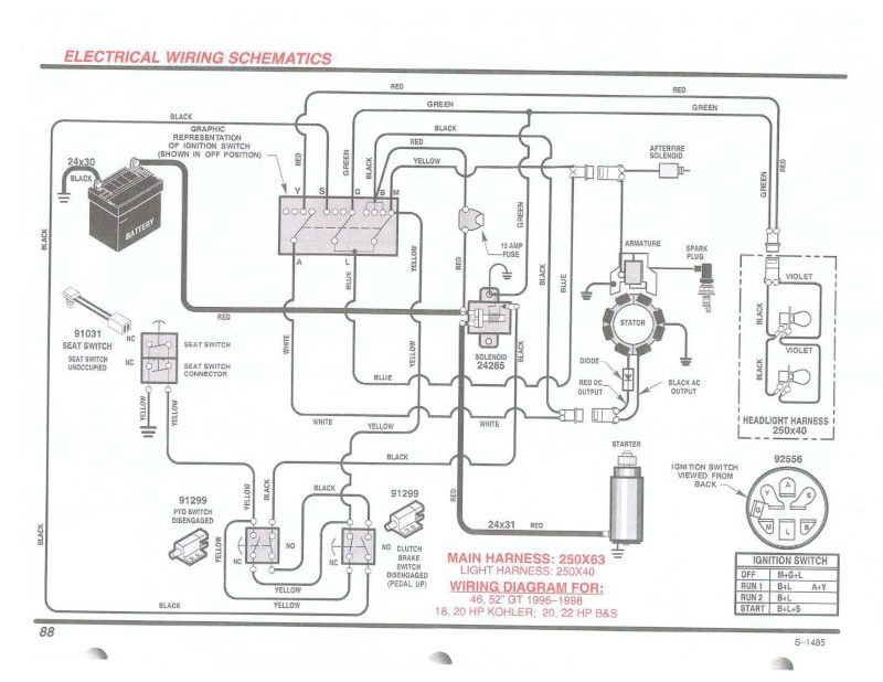 cant use a key to start tractor??? Ward S Garden Tractor Ignition Wiring Diagram on