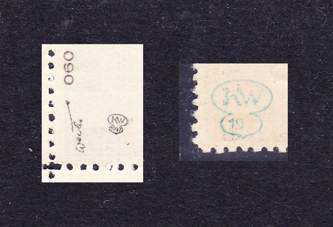 Briefmarkenprüfer von den Überdrucken 1945 und ihre Signaturen Unbena43