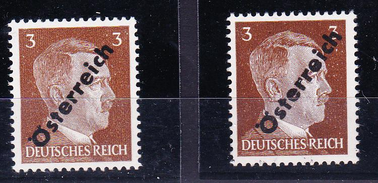 Briefmarken - I. Wiener Aushilfsausgabe, erste Ausgabe Unbena47