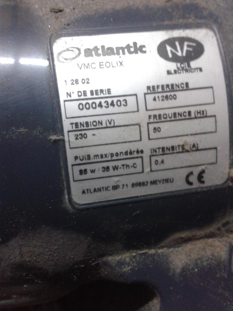 Remplacement condensateur VMC Atlantic Eolix 2013-012