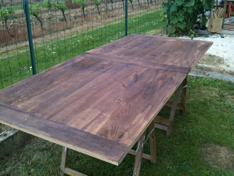 Restauration d'une table de ferme  Img_0616
