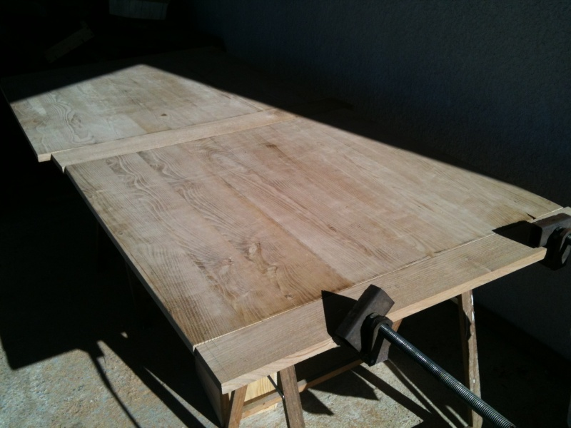 Restauration d'une table de ferme  N210