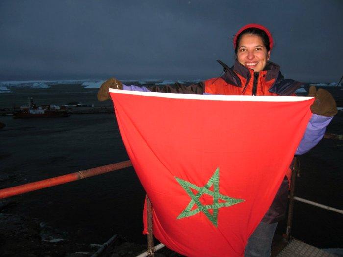 العلم المغربي في القطب الجنوبي  Mimoun19