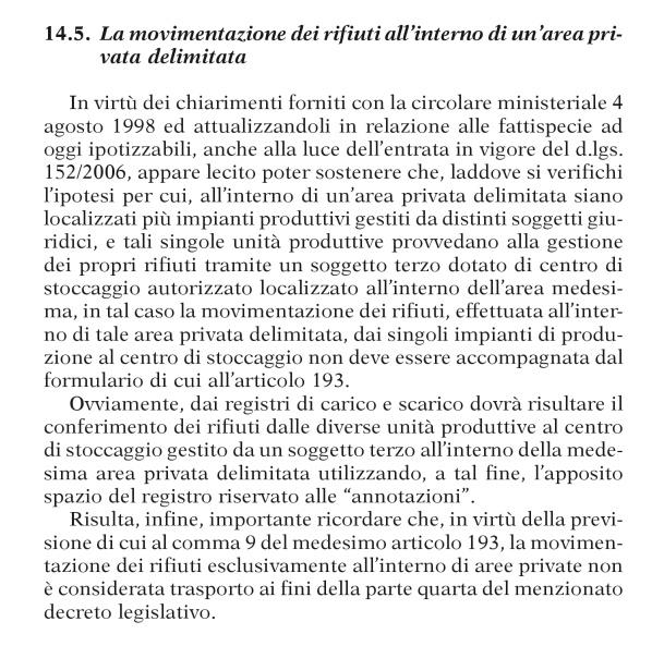 RIFIUTI CONFERITI NELLO STESSO SITO DI PRODUZIONE Pag18612