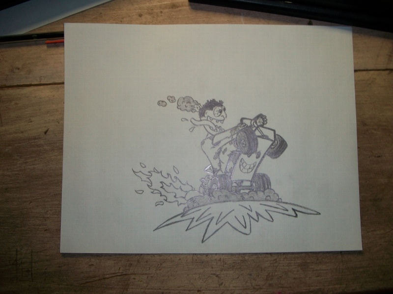 Offroad lawnmower doodle. Pic_0410