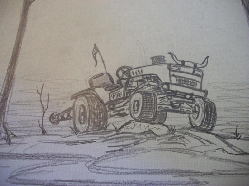 Offroad lawnmower doodle. Stuff_10