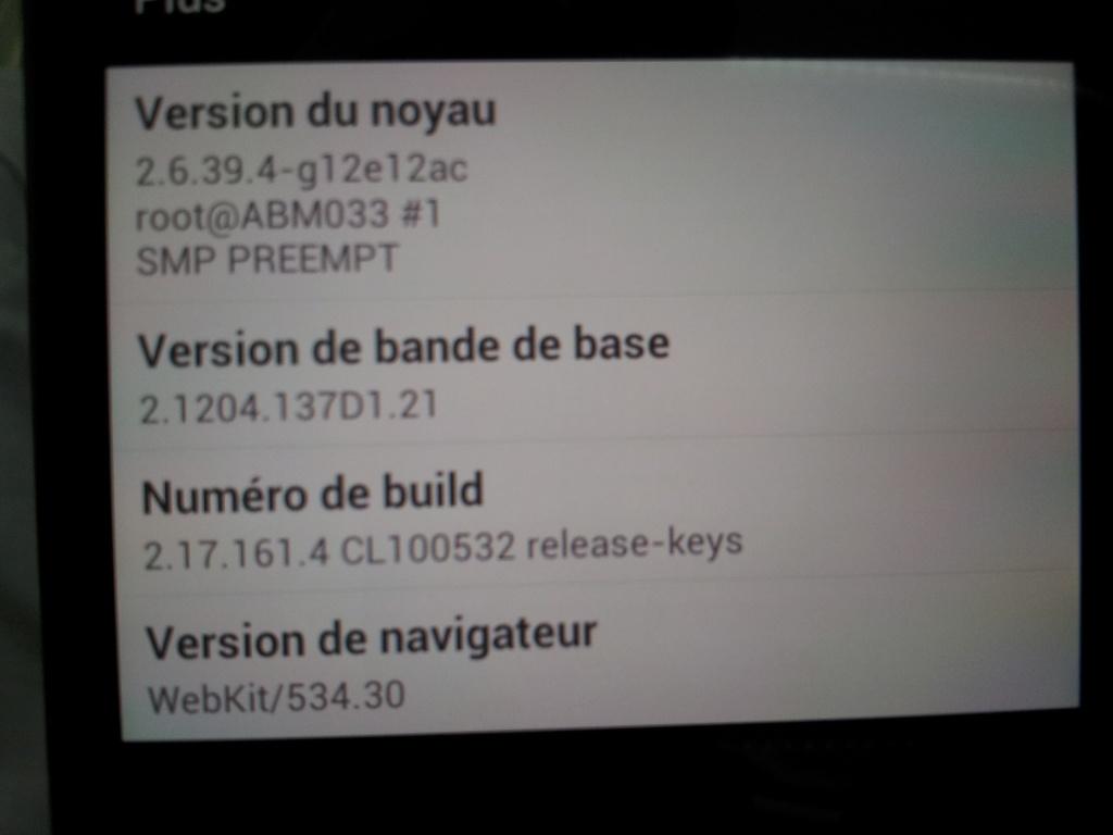 Erreur mise a jour HTC One X 4.0.4 -> 4.1.1 et  HTC Sense 4+ 20130614