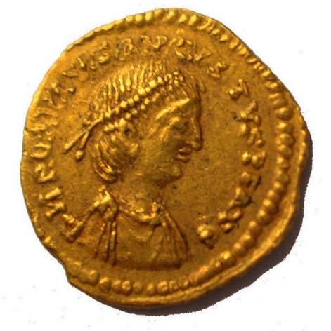 Trémissis de Romulus Augustus Rom210