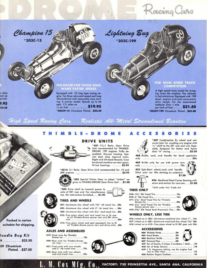 Roy Cox Thimble Drome Champion tether car Cox_ra11
