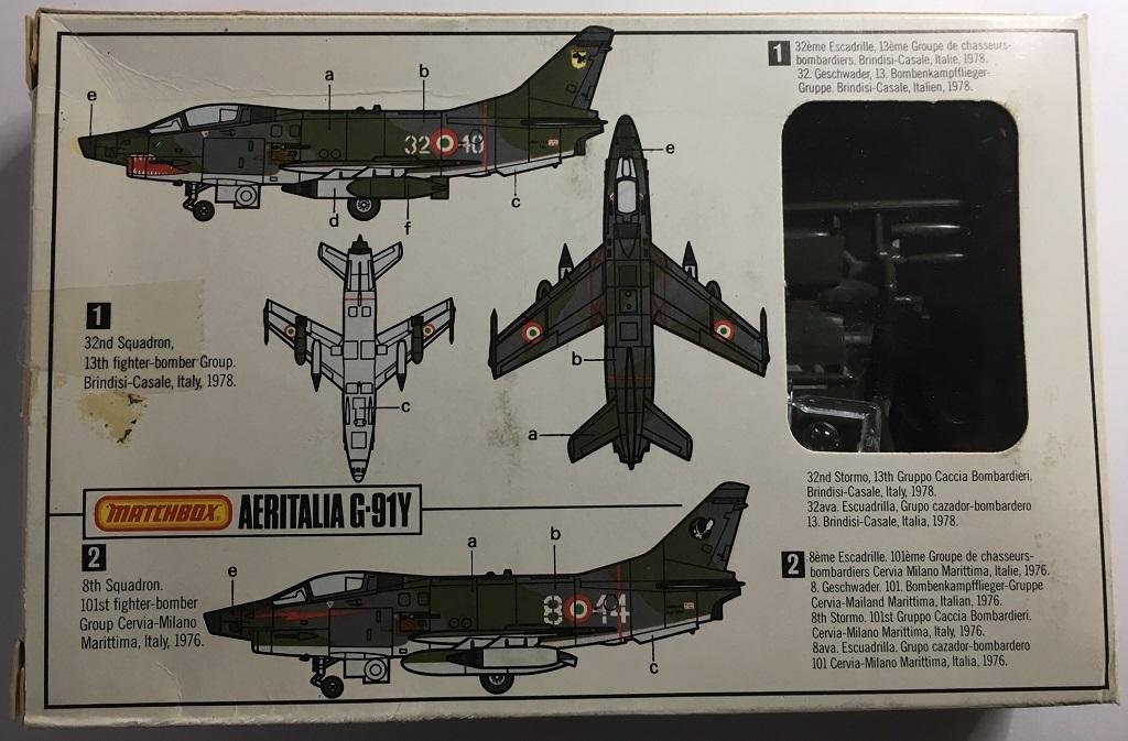 Aeritalia (FIAT) G-91 Y Matchbox G91y_v10