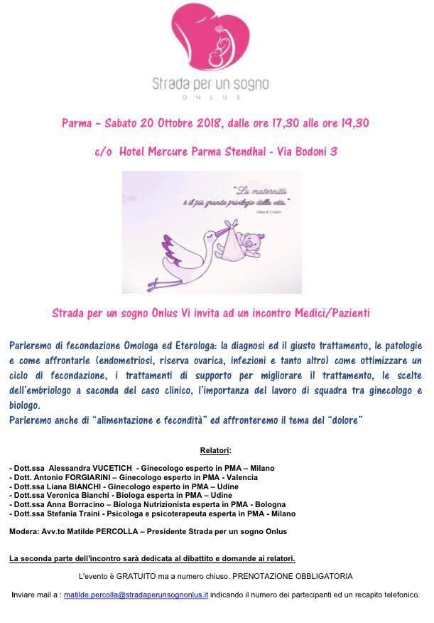 INCONTRO: Nuovo incontro onlus a PARMA - 20 Ottobre 2018  Parma_10
