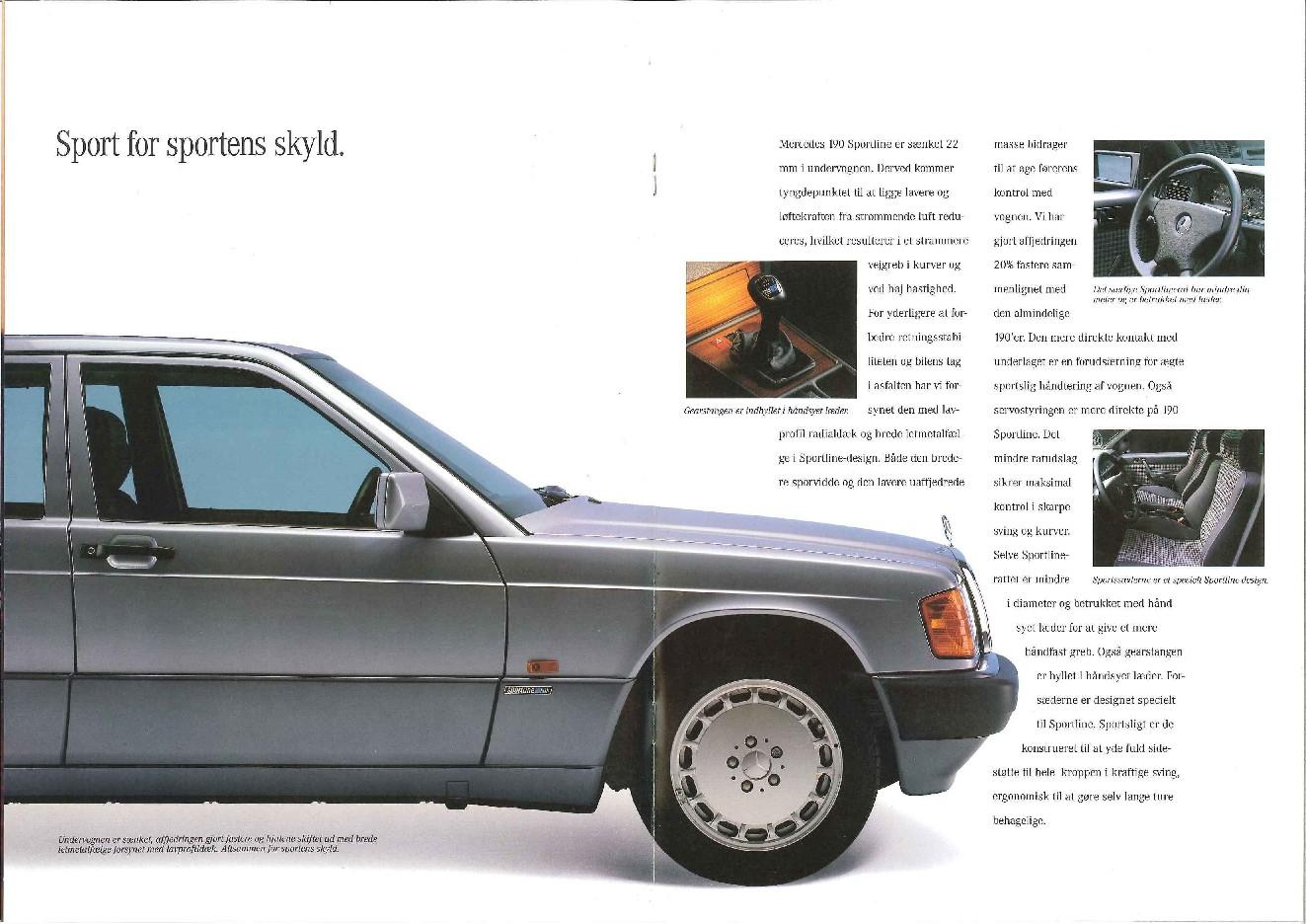 (W201): Catálogo Sportline para o mercado dinamarquês  051b4210