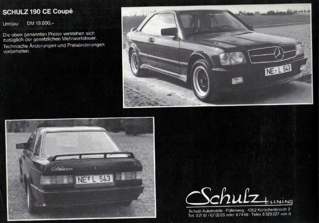 (W201): A versão coupe da Schulz® 28712010