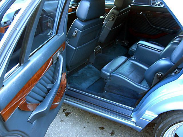 (W126): 560SEL AMG 6.0 - 4 assentos Recaro® - azul/azul 2e1fe210