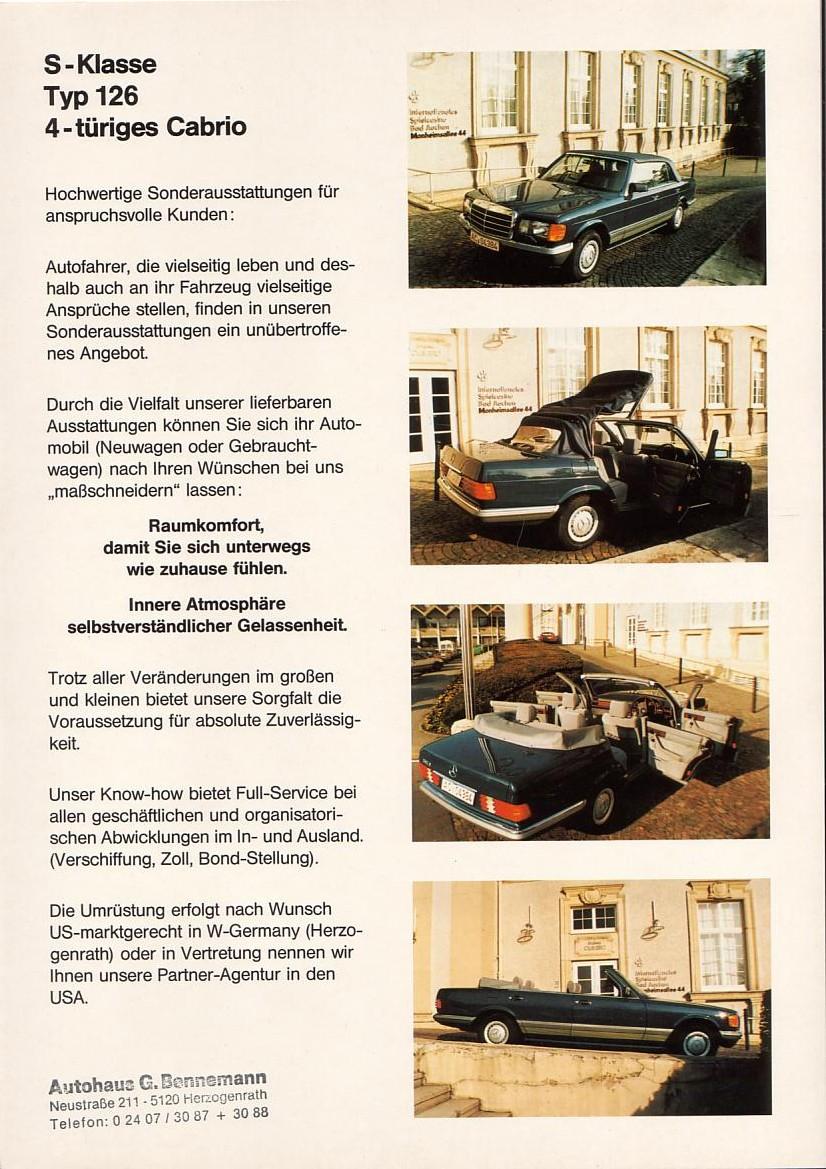 (W126): Bennemann® - 280S cabrio  3bae1810