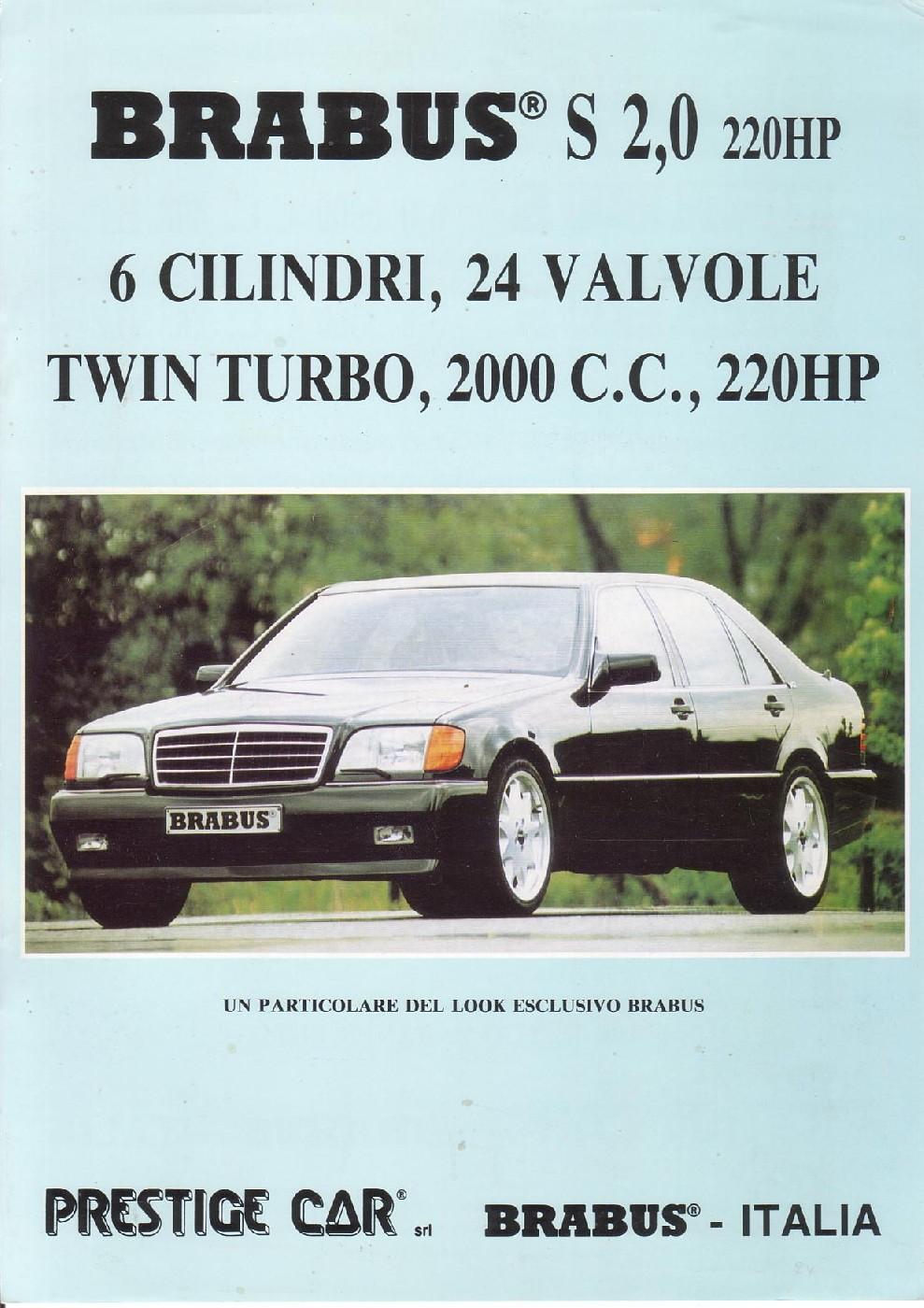 (W140): Versão BRABUS® 200SE para o mercado italiano  5d5cdc10