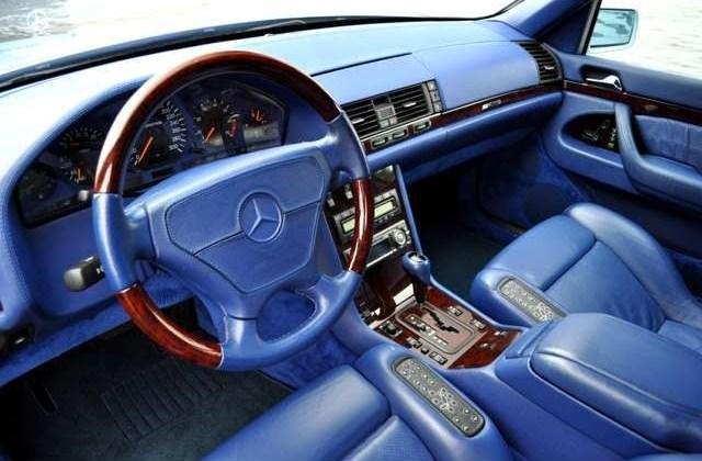 (W140): S600 7.0 AMG Designo® - 4 assentos Recaro® - azul/azul 74825210