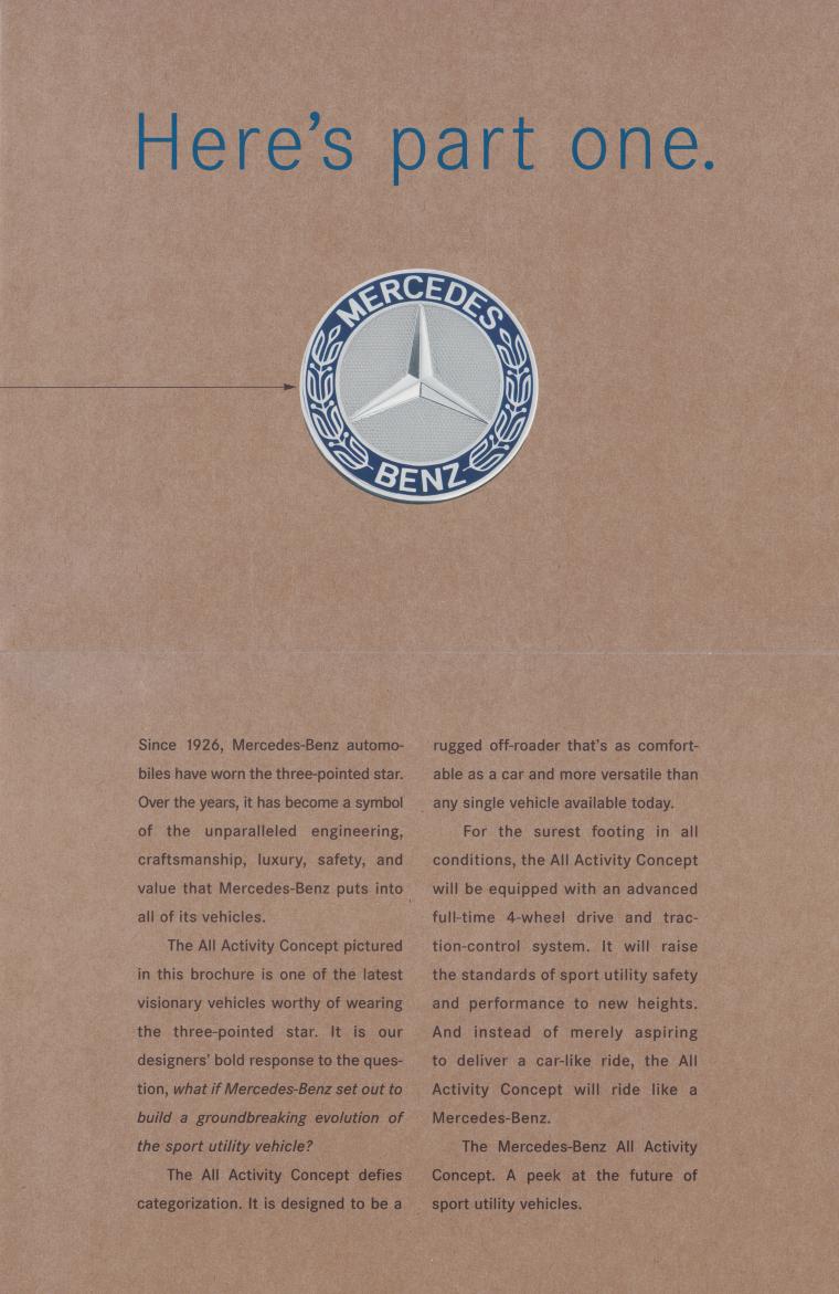 (W163): Prospecto do conceito 1995 76141b10