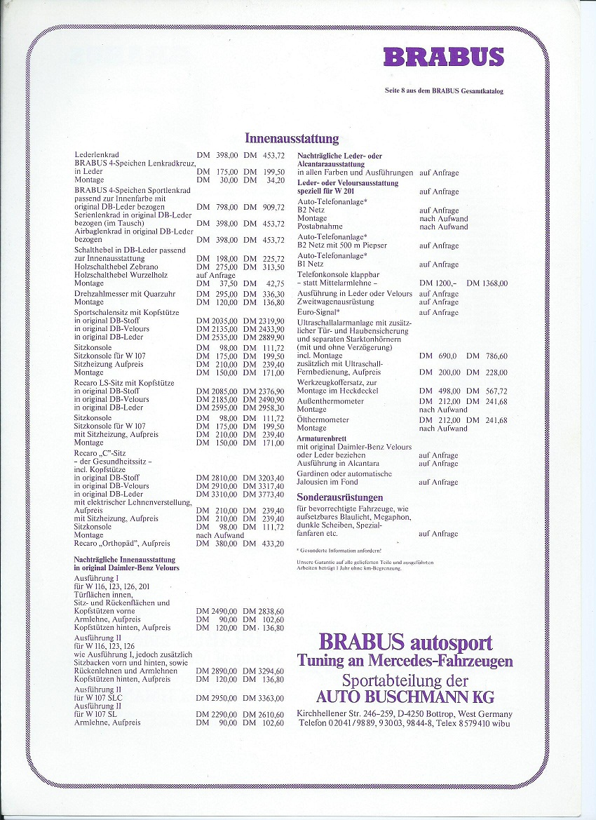 (W126): Catálogo BRABUS® 78767610