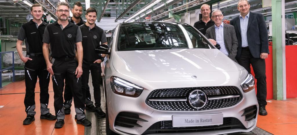 (W247): Início da produção da terceira geração da Classe B em Rastatt - Alemanha  79186610