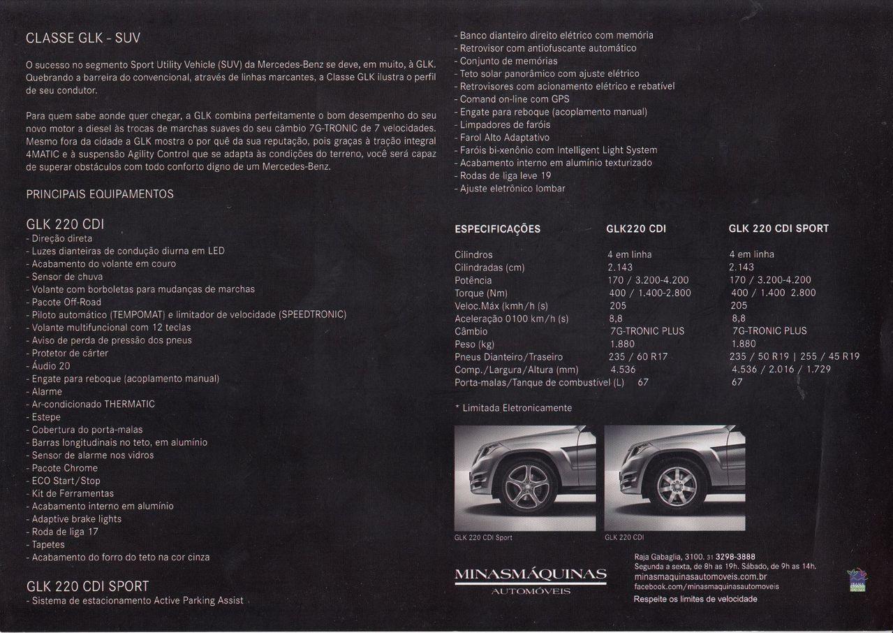 (X204): Folder GLK 220 CDI 2014 - português 817b9c10