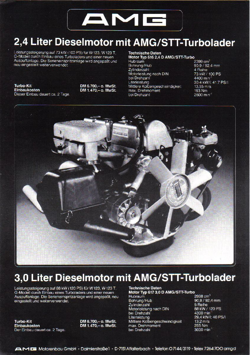 (MOTOR): OM616/617 AMG Diesel 975a9710