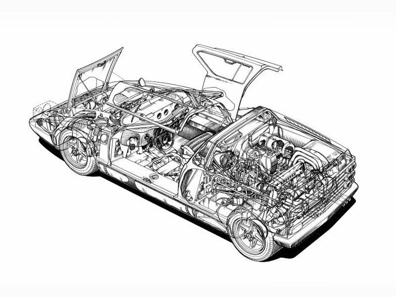 (CONCEITO): Mercedes-Benz C111-I Concept 1969 B3a2c610